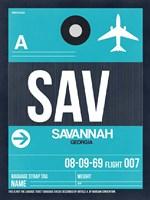 SAV Savannah Luggage Tag II Fine Art Print