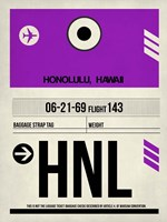 HNL Honolulu Luggage Tag I Fine Art Print