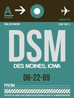 DSM Des Moines Luggage Tag II Fine Art Print