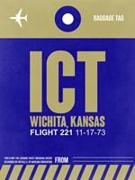 ICT Wichita Luggage Tag II Fine Art Print