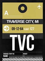 TVC Traverse City Luggage Tag II Fine Art Print