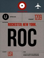 ROC Rochester Luggage Tag I Fine Art Print