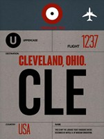 CLE Cleveland Luggage Tag I Fine Art Print