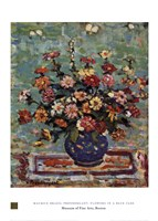 "Flowers in a Blue Vase by Maurice Brazil Prendergast - 20"" x 28"""
