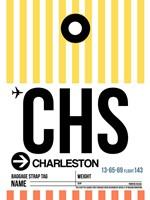 CHS Charleston Luggage Tag II Fine Art Print