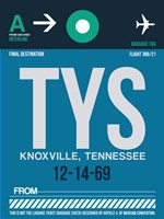 TYS Knoxville Luggage Tag II Fine Art Print