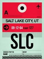 SLC Salt Lake City Luggage Tag I Fine Art Print