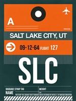 SLC Salt Lake City Luggage Tag II Fine Art Print