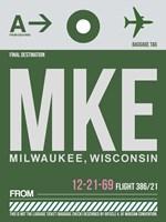 MKE Milwaukee Luggage Tag II Fine Art Print