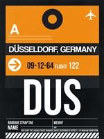 DUS Dusseldorf Luggage Tag II Fine Art Print