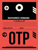 OTP Bucharest Luggage Tag I Fine Art Print