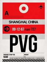 PVG Shanghai Luggage Tag I Fine Art Print