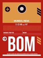 BOM Mumbai Luggage Tag II Fine Art Print
