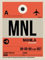 MNL Manila Luggage Tag I Fine Art Print
