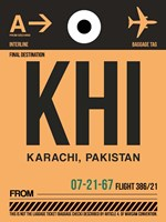 KHI Karachi Luggage Tag I Fine Art Print