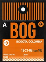 BOG Bogota Luggage Tag II Fine Art Print