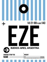 EZE Buenos Aires Luggage Tag I Fine Art Print