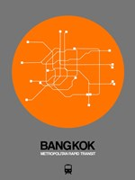 Bangkok Orange Subway Map Fine Art Print