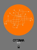 Ottawa Orange Subway Map Fine Art Print