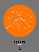 Berlin Orange Subway Map Fine Art Print