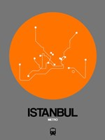 Istanbul Orange Subway Map Fine Art Print