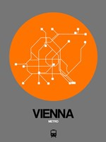 Vienna Orange Subway Map Fine Art Print
