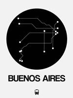 Buenos Aires Black Subway Map Fine Art Print