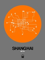 Shanghai Orange Subway Map Fine Art Print