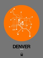 Denver Orange Subway Map Fine Art Print