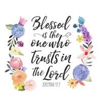 Floral Bible Verse I Fine Art Print