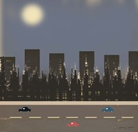 Nightime in the City II Fine Art Print