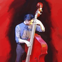 Bass Player Fine Art Print