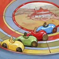 Pop Art Retro Toy Race Cars Fine Art Print