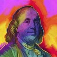 Ben Franklin Pop Art Fine Art Print