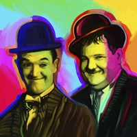 Laurel Hardy Pop Art Fine Art Print