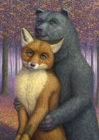 Fox and Bear Couple Fine Art Print