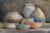 Clay Pottery Still Life-A Fine Art Print