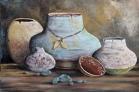 Clay Pottery Still Life-B Fine Art Print