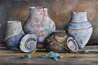 Clay Pottery Still Life-C Fine Art Print