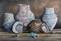 Clay Pottery Still Life-C Fine Art Print