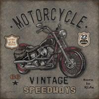 Motorcycle Speedway I Fine Art Print