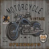 Motorcycle Speedway II Fine Art Print