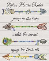 Sentimental Arrows-Lake House Rules Fine Art Print