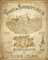 Vintage French Wine Label Fine Art Print