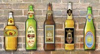 Beer Bottle On Brick-5 Fine Art Print