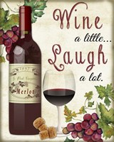 Wine A Little Fine Art Print