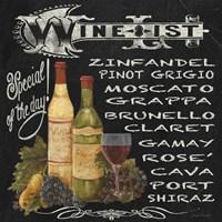 Wine List Chalkboard Fine Art Print