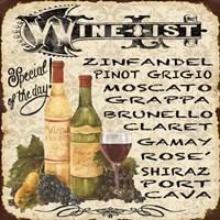 Wine List Vintage Fine Art Print