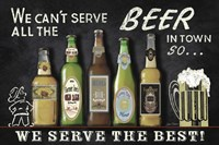Best Beer Sign Fine Art Print