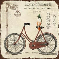Happiness is My Bicycle Fine Art Print